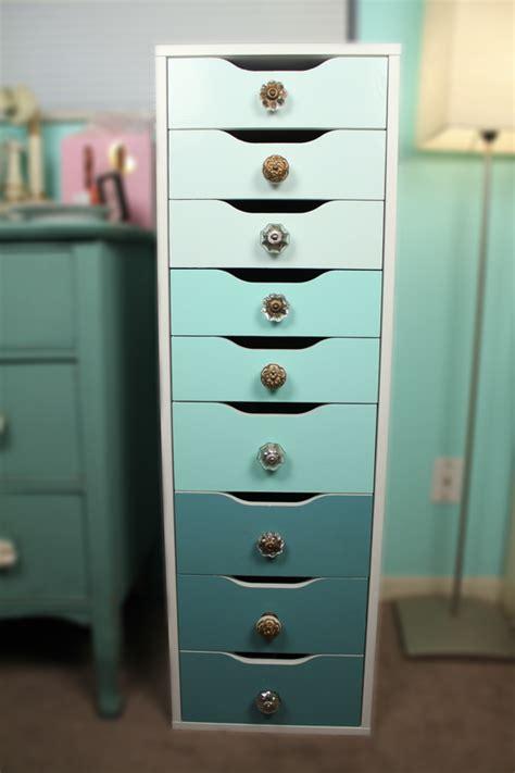 ikea alex desk drawer organizer painted alex drawers with knobs added very brief diy
