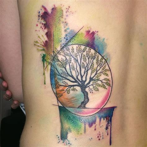 watercolor tattoos tree of life 45 colorful tree of tattoos