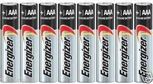 Energizer Battery Lr03 E92 8 energizer max e92 aaa lr03 am4 1 5v alkaline batteries