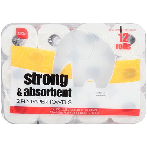 What Makes A Paper Towel Strong - smart sense ss 12lr paper towel 8 64c strong absor