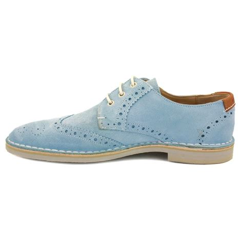 light blue suede heels ted baker jamfro 9 12187 mens laced suede brogue light blue