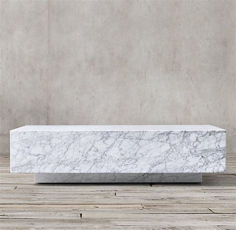 restoration hardware marble table marble plinth coffee table objects