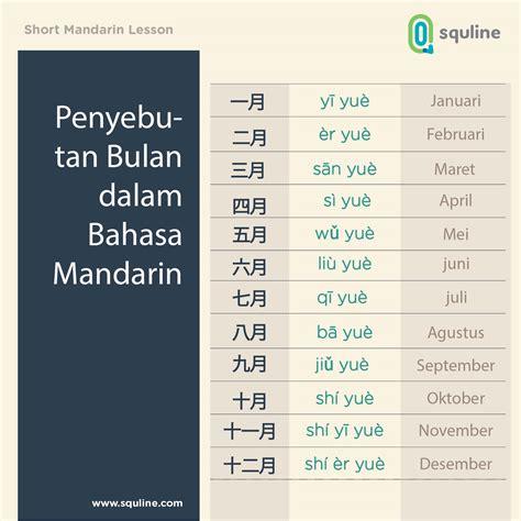 Applied Mandarin Infonesian Inglish penyebutan bulan dalam bahasa mandarin squline