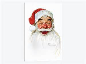 Santa claus by norman rockwell 1 piece canvas wall art