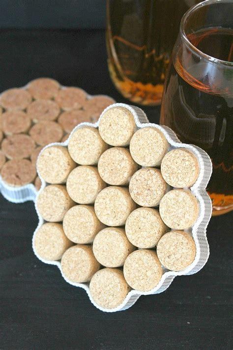 Coasters Diy diy cork coasters tutorial with recycled wine corks