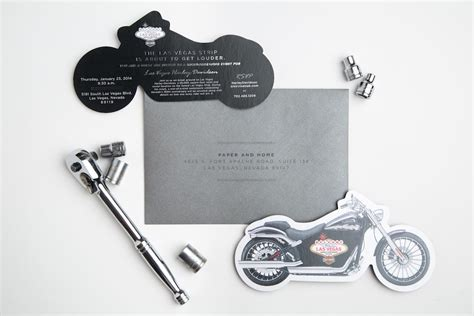 Harley Davidson Invitations by Corporate Invitations Harley Davidson Las Vegas Paper