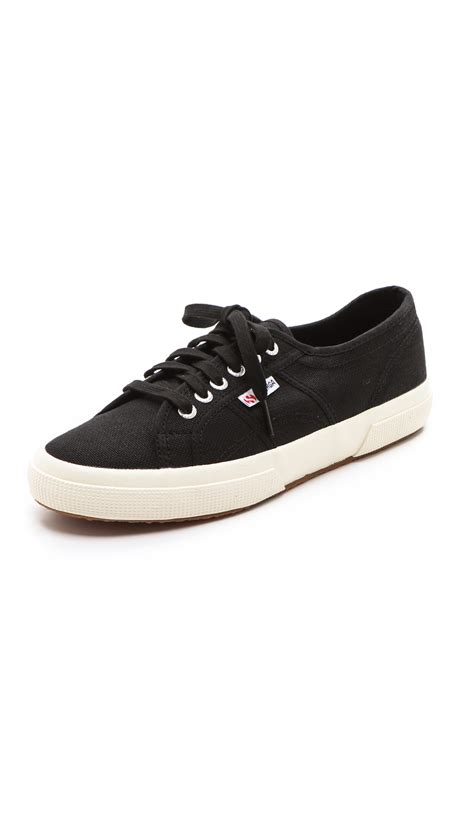 superga shoes for superga 2750 cotu classic sneakers in black for lyst