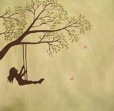 girl on a swing drawing silhouette girl with kite tattoos google search tattoo