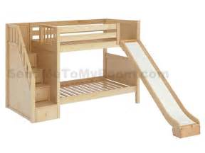 Bunk Bed With Stairs And Slide Stellar Medium Bunk Bed With Slide And Staircase Boys Room Bunk Bed And Staircases