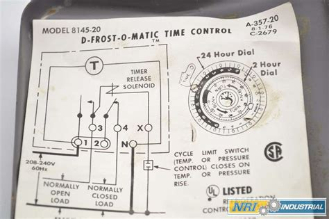 defrost timer 8145 00 wiring diagram commercial freezer