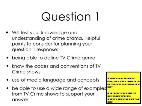 aqa gcse drama aqa gcse media studies tv crime drama preliminary brief guidance no