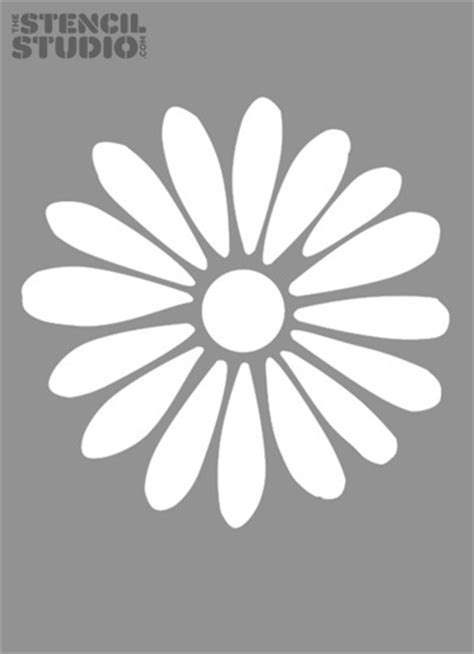 printable daisy stencils free flower stencil daisy images pictures stencils