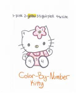 kitty color number free coloring pages art coloring pages