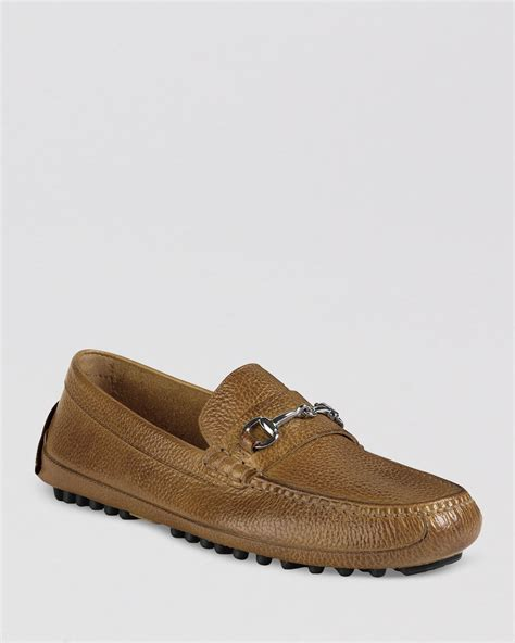image of loafers cole haan grant canoe bit driving loafers in brown for