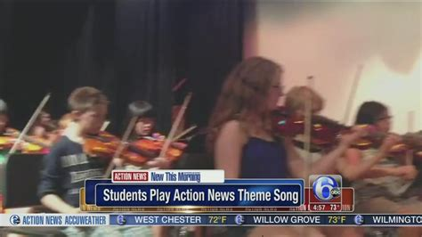 newspaper theme songs video students play action news theme song 6abc com
