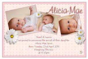 Invitation Letter Format For New Born Baby New Born Birth Announcement Postcards Card Invitation With Phoro Children Beautiful