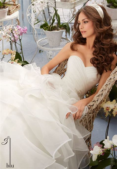 wedding draping styles wedding gown 5401 asymmetrical draping and flounced