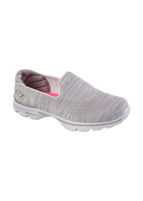 skechers slip on athletic shoes skechers skechers gowalk 3 fitknit slip on walking