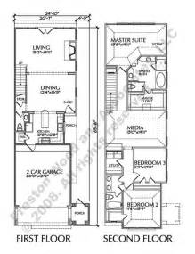 Townhome Floor Plan Designs by Two Story Townhouse Floor Plan