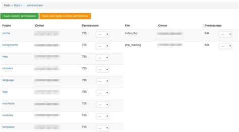 reset permissions tool how to fix joomla folders and files permissions with admin