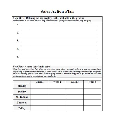 sales plan template 10 sales plan sles sle templates