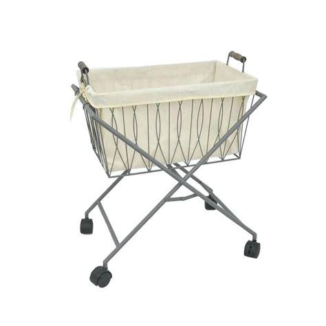 Laundry Basket On Wheels Dotandbocom Folding Laundry Cart Collapsible Laundry On Wheels