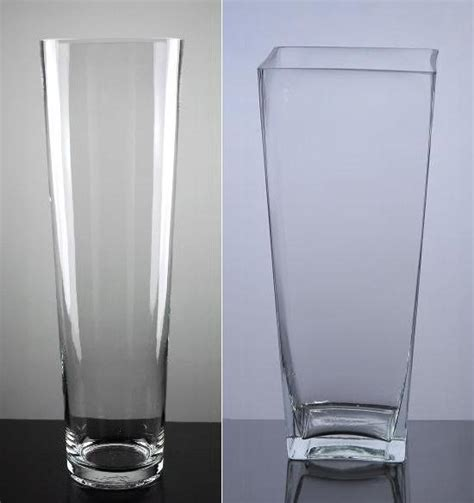 Tall Clear Vases Wholesale China Large Tall Tapered Glass Vase China Tall Glass