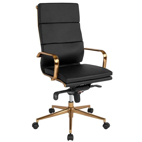 black high  office chair bt   bk gd gg bizchaircom
