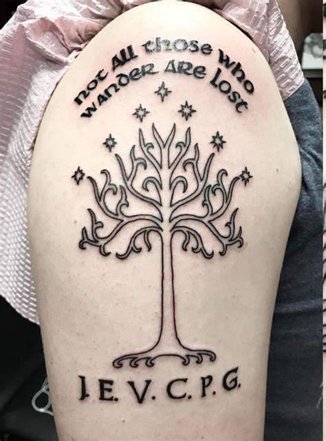 got my first tattoo last week the white tree of gondor