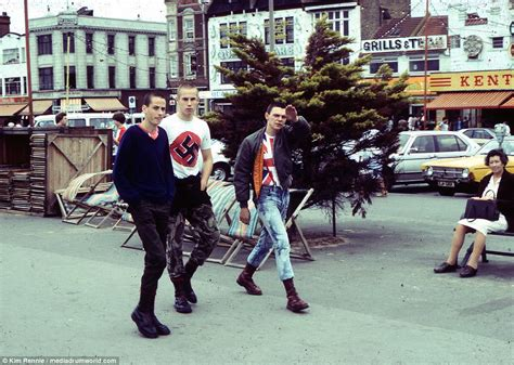 fascinating pictures show skinheads on southend rage 40