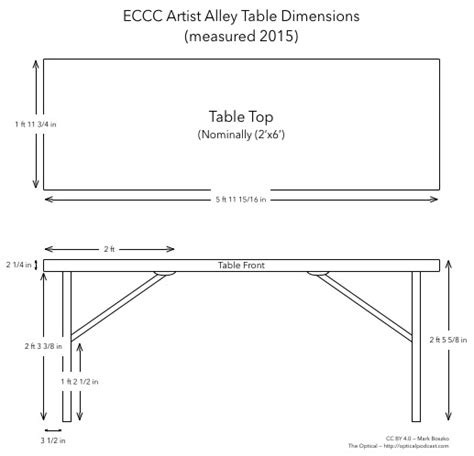 Dining Room Table Height eccc artist alley table dimensions station in the metro