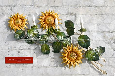 applique country chic applique con girasoli a tre per la cucina country e