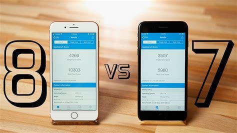 iphone 8 plus vs 7 plus performance test a11 bionic processor
