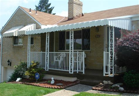 Aluminum Awning Posts by Aluminum Porch With Railing Scroll Posts