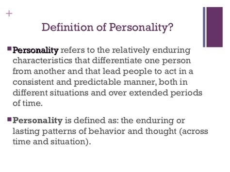 define pattern concept theory 1 theories of personality