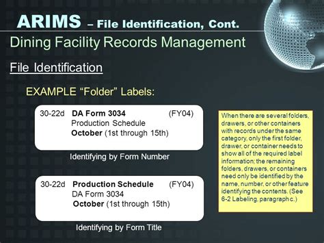 arims labels for supply room the army records information management system ppt