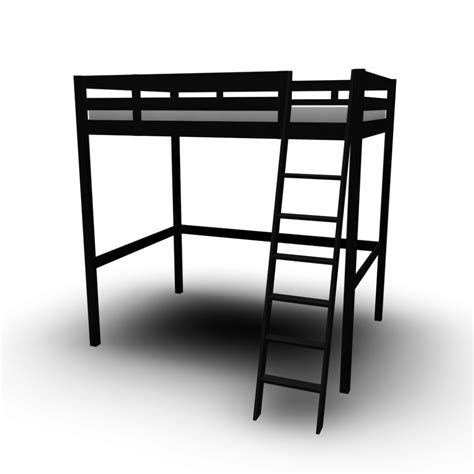 stor loft bed frame stor 197 loft bed frame design and decorate your room in 3d