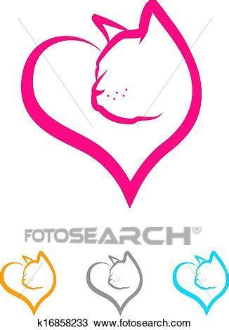 gatto clipart clipart gatto cuore k16858233 cerca clipart