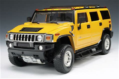 hummer® h2 yellow (highway 61) 1/18 diecast car scale model