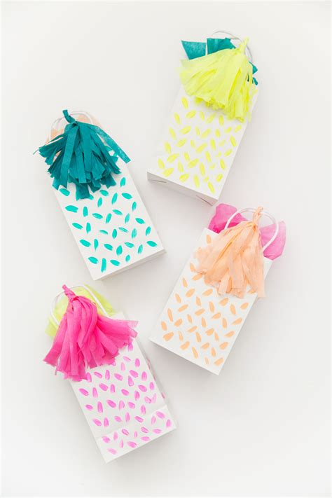 what to put in a gift bag diy tassel gift bag tell and