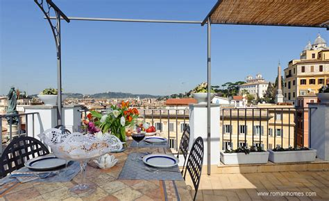 Designer Apartments terrace of the spanish steps rome seagulls panoramic