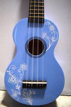 flower design ukulele soprano ukulele with hand painted design flower etsy