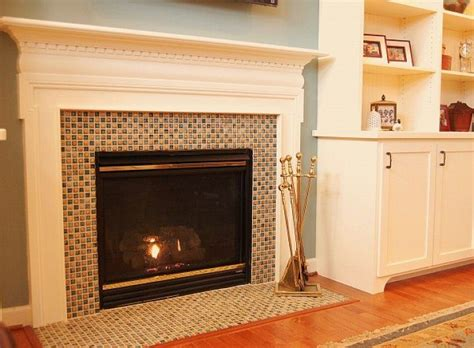 best 25 glass tile fireplace ideas on mosaic