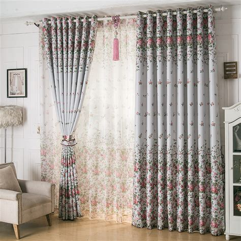calico curtains double sided printing calico shading bloom houseful