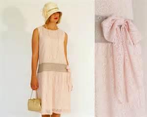 Flapper dress pink lace 1920s flapper dress great gatsby dress high