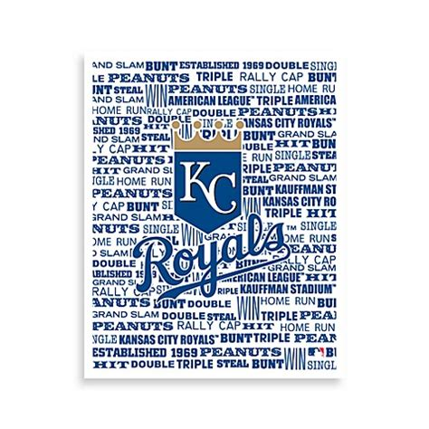 bed bath and beyond kansas city kansas city royals typography canvas art bed bath beyond