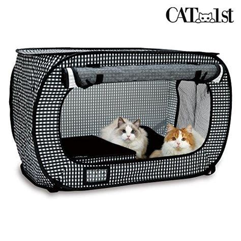 Kandang Kucing Indoor set of pop open cat cage and portable litter box cat my