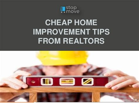 cheap home improvement tips from realtors