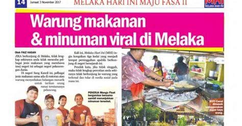 tourism melaka warung makanan minuman viral  melaka
