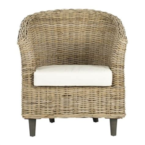Safavieh Wicker Chairs safavieh omni wicker barrel chair in unfinished fox6501c